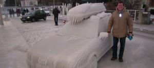 macchina ghiacciata
